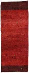 Gabbeh Persisk Matta 74X190 Äkta Modern Handknuten Hallmatta Roströd/Mörkröd (Ull, Persien/Iran)