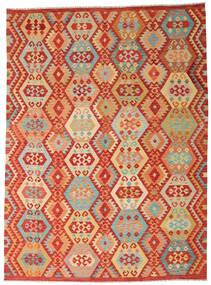 Kilim Afgán Old Style Szőnyeg 252X344 Keleti Kézi Szövésű Rozsdaszín/Sötét Bézs Nagy (Gyapjú, Afganisztán)