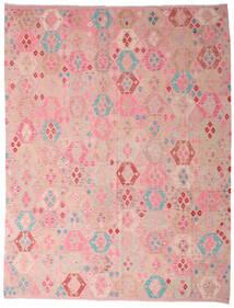 Kelim Afghan Old Style Matto 273X353 Itämainen Käsinkudottu Vaaleanpunainen/Beige Isot (Villa, Afganistan)