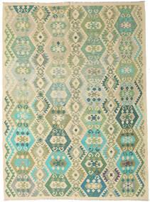 Kilim Afgan Old Style Dywan 246X338 Orientalny Tkany Ręcznie Jasnozielony/Ciemnobeżowy (Wełna, Afganistan)