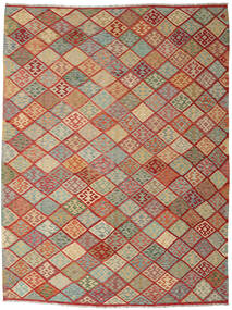 Kilim Afghan Old Style Rug 263X347 Authentic  Oriental Handwoven Dark Red/Light Grey Large (Wool, Afghanistan)