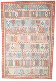 Kilim Afghan Old Style Rug 200X299 Authentic  Oriental Handwoven Beige/Light Grey (Wool, Afghanistan)