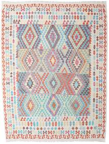 Kilim Afghan Old Style Rug 223X292 Authentic  Oriental Handwoven Light Grey/White/Creme (Wool, Afghanistan)