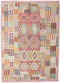Kilim Afghan Old Style Alfombra 206X288 Oriental Tejida A Mano Beige/Beige Oscuro (Lana, Afganistán)