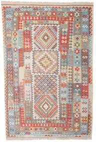 Kelim Afghan Old Style Tæppe 208X316 Ægte Orientalsk Håndvævet Lysegrå (Uld, Afghanistan)