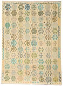 Kelim Afghan Old Style Teppich  258X346 Echter Orientalischer Handgewebter Dunkel Beige/Beige Großer (Wolle, Afghanistan)