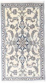 Nain Vloerkleed 85X154 Echt Oosters Handgeknoopt Beige/Lichtgrijs/Wit/Creme (Wol, Perzië/Iran)