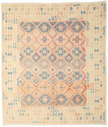 Kilim Afgán Old Style Szőnyeg 256X288 Keleti Kézi Szövésű Bézs/Világos Rózsaszín Nagy (Gyapjú, Afganisztán)