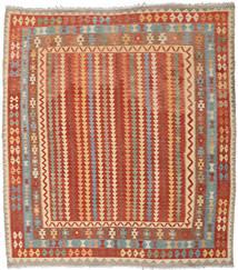 Kelim Afghan Old Style Teppe 260X285 Ekte Orientalsk Håndvevd Kvadratisk Rød/Rust Stort (Ull, Afghanistan)