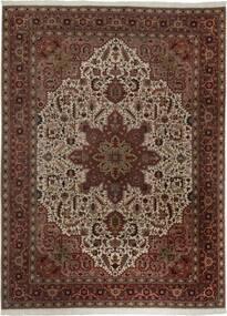 Tabriz 50 Raj Alfombra 300X400 Oriental Tejida A Mano Rojo Oscuro/Marrón Grande (Lana/Seda, Persia/Irán)