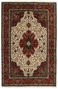 タブリーズ 40 Raj 絨毯 151X221 オリエンタル 手織り 濃い茶色/ベージュ (ウール/絹, ペルシャ/イラン)