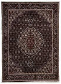 Tabriz 40 Raj Matto 170X235 Itämainen Käsinkudottu Tummanruskea/Vaaleanruskea (Villa/Silkki, Persia/Iran)