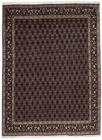 Täbriz 40 Raj Teppich  174X240 Echter Orientalischer Handgewebter Dunkelbraun/Hellbraun (Wolle/Seide, Persien/Iran)