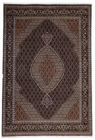 タブリーズ 40 Raj 絨毯 200X300 オリエンタル 手織り 濃い茶色/薄茶色 (ウール/絹, ペルシャ/イラン)