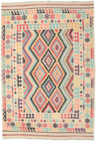 Kilim Afghan Old Style Rug 200X293 Authentic  Oriental Handwoven Beige/Dark Beige (Wool, Afghanistan)