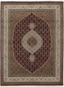 Tabriz Royal Matto 174X236 Itämainen Käsinkudottu Tummanruskea/Ruskea/Vaaleanharmaa ( Intia)