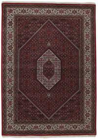 Bidjar Indisch Teppich  144X200 Echter Orientalischer Handgewebter Dunkelbraun (Wolle, Indien)
