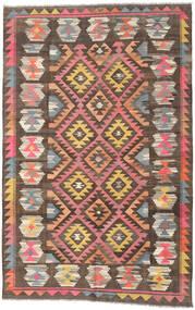 Kelim Afghan Old Style Vloerkleed 197X304 Echt Oosters Handgeweven Bruin/Donkergrijs (Wol, Afghanistan)