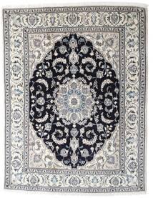Nain Matta 196X253 Äkta Orientalisk Handknuten Ljusgrå/Mörkgrå (Ull, Persien/Iran)