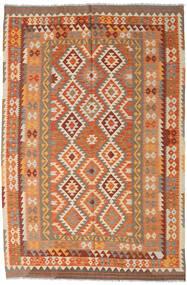 Kilim Afghan Old Style Rug 194X293 Authentic  Oriental Handwoven Brown/Light Brown (Wool, Afghanistan)