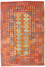 Kelim Afghan Old Style Vloerkleed 201X300 Echt Oosters Handgeweven Roestkleur/Oranje (Wol, Afghanistan)