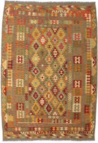Kilim Afghan Old Style Rug 206X298 Authentic  Oriental Handwoven Light Brown/Brown (Wool, Afghanistan)