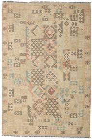 Kelim Afghan Old Style Vloerkleed 193X291 Echt Oosters Handgeweven Donkerbeige/Beige (Wol, Afghanistan)