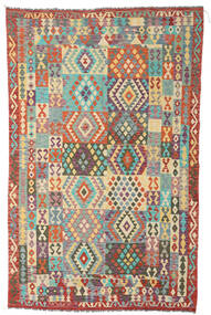 Kilim Afghan Old Style Rug 191X305 Authentic  Oriental Handwoven Brown/Dark Beige (Wool, Afghanistan)