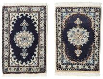 Nain Rug 40X60 Authentic  Oriental Handknotted Light Grey/Dark Purple (Wool, Persia/Iran)