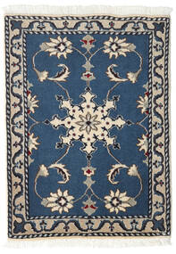Nain Rug 60X90 Authentic  Oriental Handknotted Dark Blue/Light Grey (Wool, Persia/Iran)