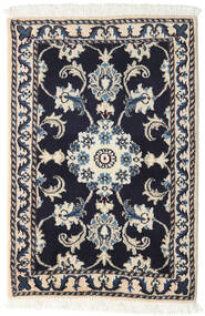 Nain Rug 60X90 Authentic  Oriental Handknotted Dark Grey/Light Grey (Wool, Persia/Iran)