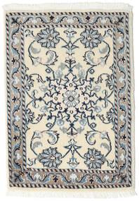 Nain Tappeto 60X90 Orientale Fatto A Mano Beige/Grigio Chiaro (Lana, Persia/Iran)