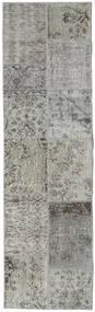 パッチワーク - Turkiet 絨毯 60X200 モダン 手織り 廊下 カーペット 薄い灰色/濃いグレー (ウール, トルコ)