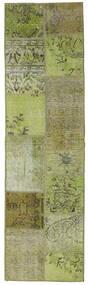パッチワーク - Turkiet 絨毯 60X200 モダン 手織り 廊下 カーペット ライトグリーン/オリーブ色 (ウール, トルコ)