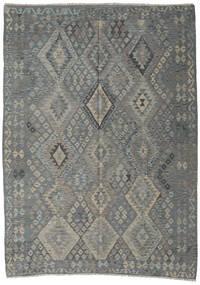 キリム アフガン オールド スタイル 絨毯 200X300 オリエンタル 手織り 濃いグレー/薄い灰色/ターコイズ (ウール, アフガニスタン)