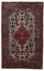 Hamadan Matto 78X123 Itämainen Käsinsolmittu Musta/Tummanpunainen (Villa, Persia/Iran)