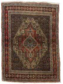 Senneh Tapis 116X160 D'orient Fait Main Marron Foncé/Rouge Foncé (Laine, Perse/Iran)