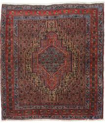 Senneh Tapis 130X147 D'orient Fait Main Rouge Foncé/Marron Foncé (Laine, Perse/Iran)