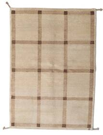 Gabbeh Indo Rug 143X202 Authentic  Modern Handknotted Light Grey/Light Brown (Wool, India)
