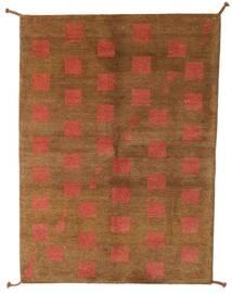 ギャッベ インド 絨毯 140X195 モダン 手織り 茶/赤 (ウール, インド)