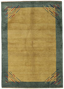 Gabbeh Indo Rug 171X241 Authentic  Modern Handknotted Olive Green/Dark Green (Wool, India)