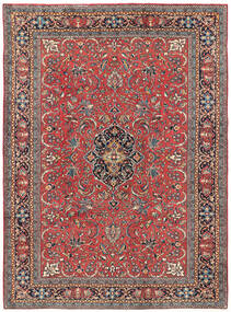 Mahal Rug 210X285 Authentic Oriental Handknotted Dark Red/Dark Grey (Wool, Persia/Iran)