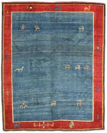 Gabbeh Rustic Teppich 152X185 Echter Moderner Handgeknüpfter Dunkelblau/Rost/Rot (Wolle, Persien/Iran)