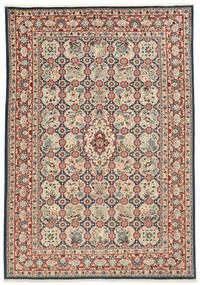 Varamin Teppich 203X285 Echter Orientalischer Handgeknüpfter (Wolle/Seide, Persien/Iran)