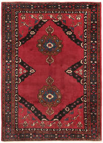 Shahrekord Tapis 207X290 D'orient Fait Main Rouge Foncé/Rouge/Marron Foncé (Laine, Perse/Iran)