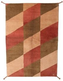 ギャッベ インド 絨毯 143X201 モダン 手織り 茶/赤 (ウール, インド)