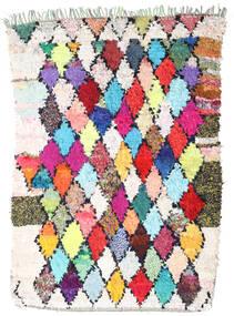 Berber Moroccan - Boucherouite 絨毯 167X237 モダン 手織り ホワイト/クリーム色/濃いグレー ( モロッコ)