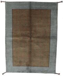 ギャッベ インド 絨毯 139X196 モダン 手織り 濃いグレー/茶 (ウール, インド)