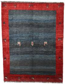 Gabbeh Rustic Teppich 155X203 Echter Moderner Handgeknüpfter Dunkelgrau/Dunkelrot (Wolle, Persien/Iran)