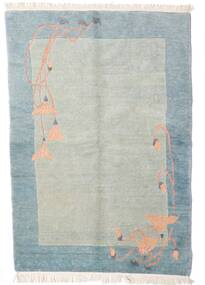 Himalaya Rug 140X197 Authentic  Modern Handknotted Light Grey/Light Blue (Wool, India)